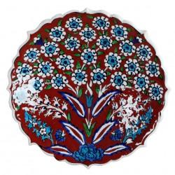 Assiette murale Vichné rouge 18cm