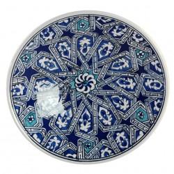 Vaisselle orientale, Assiette Melis bleue 18cm