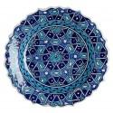 Assiette orientale Seldjouk bleue 18cm à bords chantournés