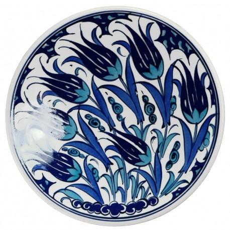 Assiette orientale ottomane Necla 18cm avec motifs fleuris (céramique de style Iznik, fabriquée à Kütahya en Turquie)