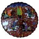 Plat artisanal Avla rouge 30cm