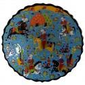 Assiette de collection Avla bleue 30cm