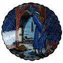 Plat d'artisanat d'art Kaplum bleu 30cm