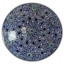 Plat oriental Melis bleu 30cm