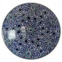 Vaisselle orientale, assiette géométrique Melis bleu 30cm