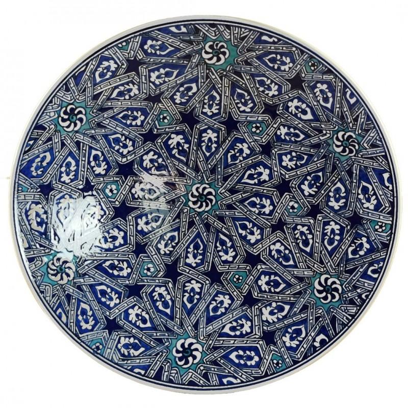 Assiette Géométrique Melis Bleue 30cm