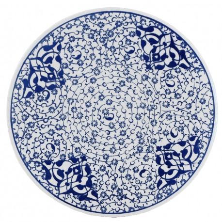 Dessous-de-plat en céramique Hava décoré de spirales orientales