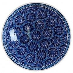 Plat bleu oriental Seldjouk 30cm