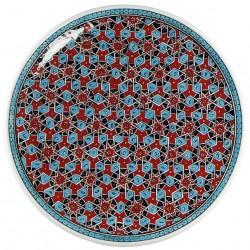 Plat oriental Seldjouk rouge 40cm