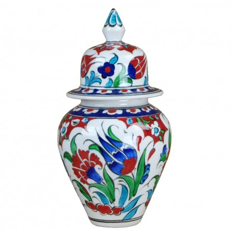 Drageoir en céramique Ceylan 15cm, décor fleuri