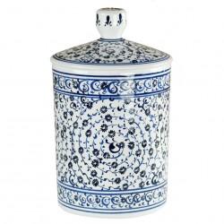 """Pot à tabac en céramique Hava 12cm décorée de spirales """"Corne d'Or"""""""