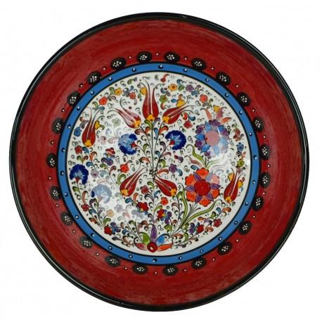 Cadeau déco, bol rouge oriental Timur 25cm