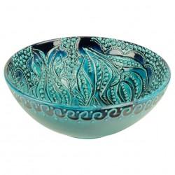Bol décoratif turquoise Devrim 20cm