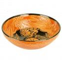 Bol décoratif original Dira orange 25cm
