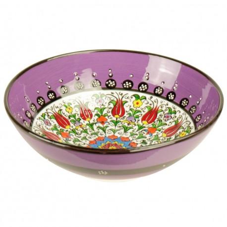 Cadeau artisanal, bol ethnique violet Savas Violet 20cm