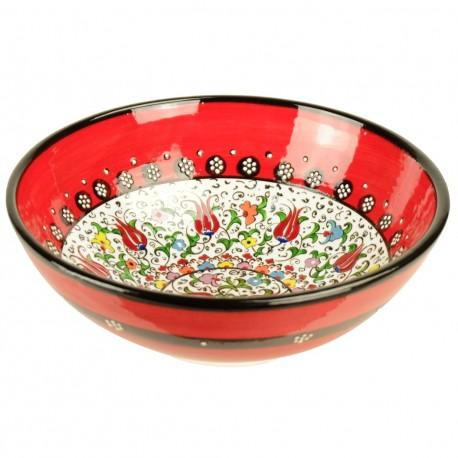 Vaisselle marocaine, bol rouge en céramique orientale Savas Rouge 20cm