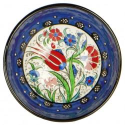 Bol oriental bleu Kadri 15cm en céramique, vaisselle marocaine