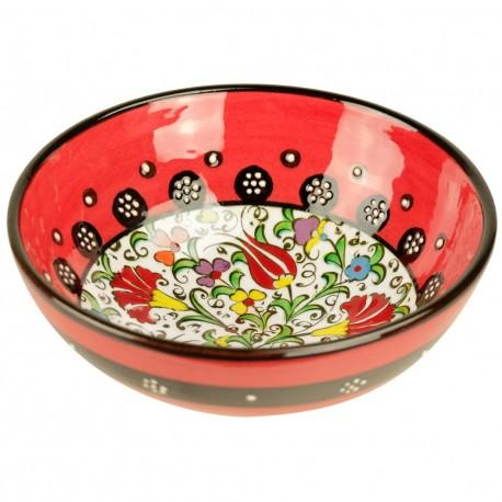 Cadeau très original, bol rouge Kadri 15cm en céramique orientale
