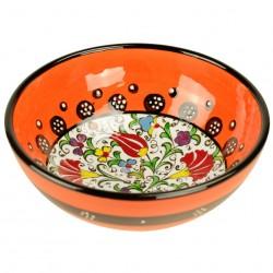 Bol Kadri orange 15cm, vaisselle turque