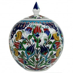 Idée cadeau originale, pot ottoman Ceylan 20cm, déco artisanale