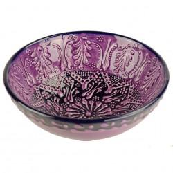 Bol artisanal Tolga violet 15cm