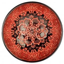 2 bols décoratifs rouges Tolga 15cm