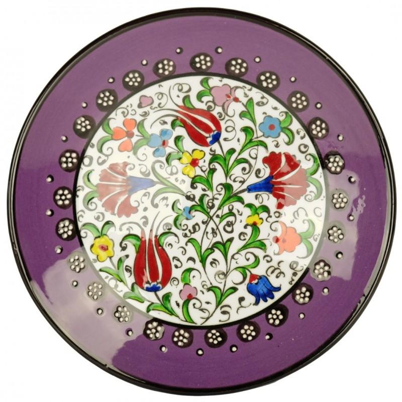 assiette orientale kiraz violette en c ramique artisanale. Black Bedroom Furniture Sets. Home Design Ideas