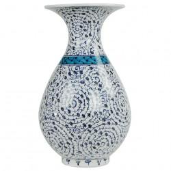 Vase céramique Hava 30cm avec motifs spiralés ottoman Iznik