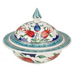Cadeau design : Sucrier Lalé avec motifs floraux, design ottoman Iznik