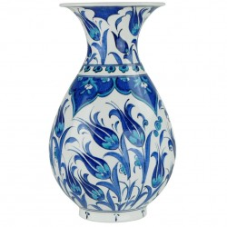 Vase bleu en céramique ottomane Necla 25cm