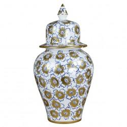 Urne décorative en faïence artisanale Isin 30cm