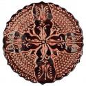 Assiette ethnique Emel rouge 18cm
