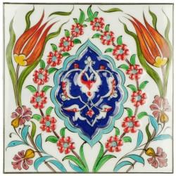 Carreau d'art d'Iznik Dilek 20x20, céramique orientale ottomane Iznik
