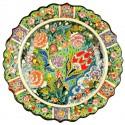 Assiette turque en céramique Deniz verte 25cm