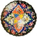 Assiettes décoratives Selin bleue 18cm