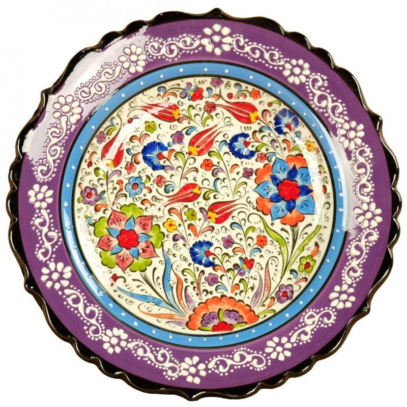 Assiette murale violette elmas - Assiette murale ...