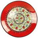 Assiette artisanale Elmas rouge 25cm
