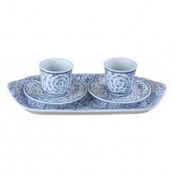 Service à thé oriental Hava, céramique de style Iznik