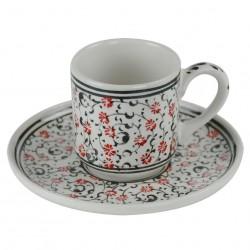 Tasses originales en céramique orientale Hava noires, style Iznik