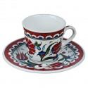 2 tasses orientales Lalé avec frise rouge