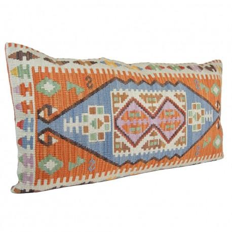 housse de coussin sinope orange en laine et coton. Black Bedroom Furniture Sets. Home Design Ideas