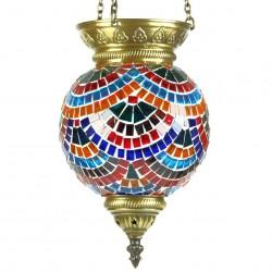 Lampe orientale en mosaïque Lamassu