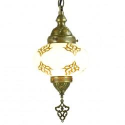 Lampe orientale suspendue en laiton Adana