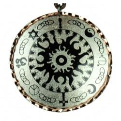 Collier bohème noir et argenté en cuivre Kaveh