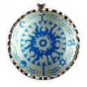 Collier 4 symboles religieux Kaveh bleu