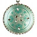 Pendentif vert artisanal Nafis