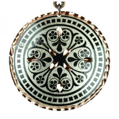 Collier oriental noir en cuivre Nafis