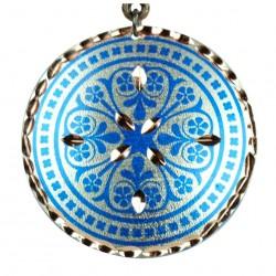 Collier fantaisie bleu Nafis