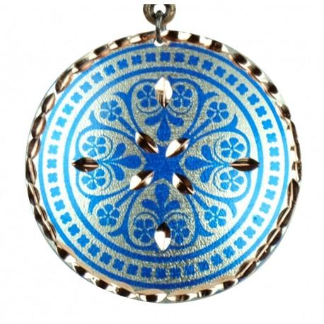 Pendentif Oriental en Cuivre Nafis Bleu