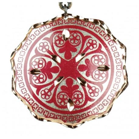 Pendentif ethnique rouge en cuivre Turan, collier fantaisie